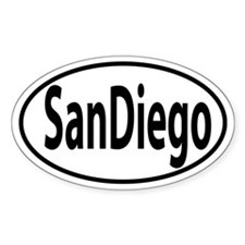 SAN DIEGO, CA Oval decal Decal