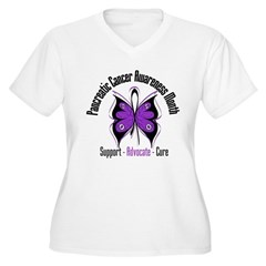 Pancreatic Cancer Month Women's Plus Size V-Neck T
