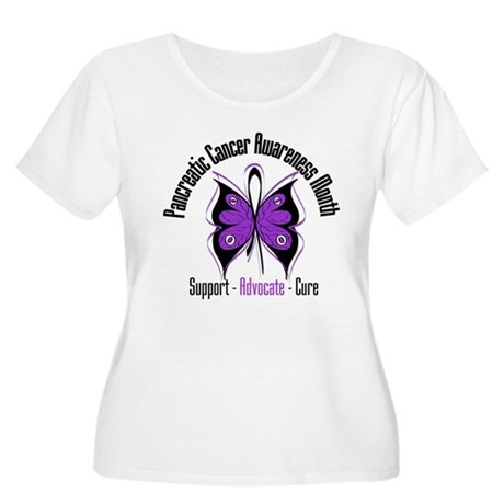 Pancreatic Cancer Month Women's Plus Size Scoop Ne
