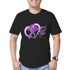 Heart Pancreatic Cancer Men's Fitted T-Shirt (dark
