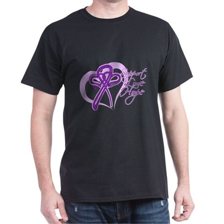 Heart Pancreatic Cancer Dark T-Shirt
