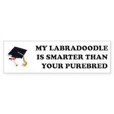 Labradoodle Smarter Bumper Bumper Sticker