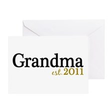 New Grandma Est 2011 Greeting Card