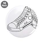 """Basketball Sneaker 3.5"""" Button (10 Pk)"""