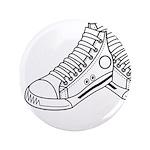 """Basketball Sneaker 3.5"""" Button"""