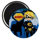 "Cute Swallow Superhero 2.25"" Magnet (100 Pk)"