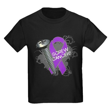 Screw Pancreatic Cancer Kids Dark T-Shirt