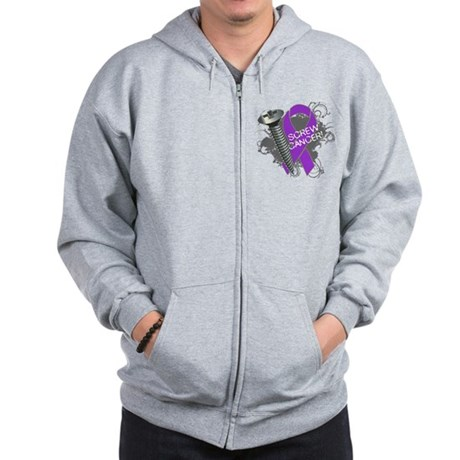 Screw Pancreatic Cancer Zip Hoodie