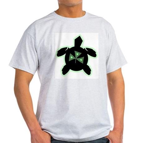 Shamrock Sea Turtle Ash Grey T-Shirt