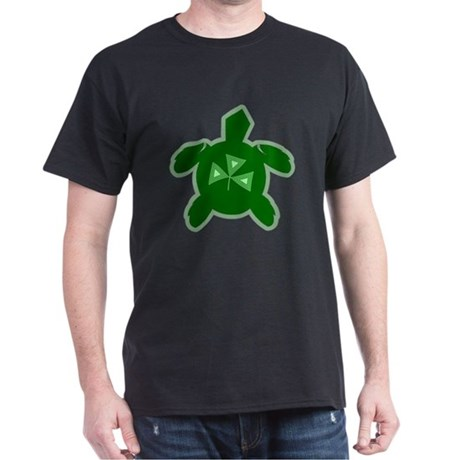 Shamrock Sea Turtle Black T-Shirt