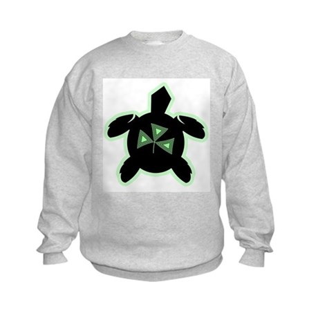 Shamrock Sea Turtle Kids Sweatshirt