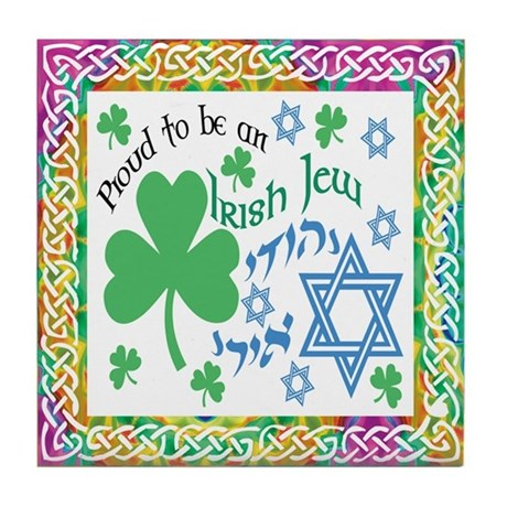 Proud Irish Jew Tile Coaster