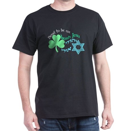 Proud Irish Jew Black T-Shirt