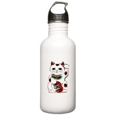 White Maneki Neko Water Bottle