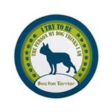 "Boston Terrier 3.5"" Button (100 pack)"
