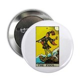 "The Fool Tarot Card 2.25"" Button (10 pack)"
