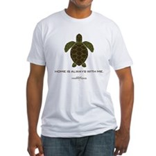 Turtle Unisex White Fitted T-Shirt