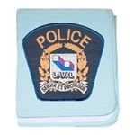Laval Quebec Police baby blanket