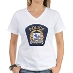 Laval Quebec Police Women's V-Neck T-Shirt