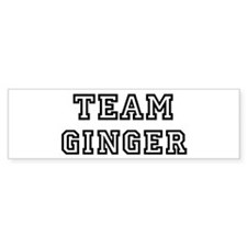 Team Ginger Bumper Bumper Sticker