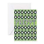 Green Argyle Preppy Greeting Cards (Pk of 20)