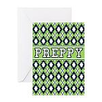 Green Argyle Preppy Card Greeting Card