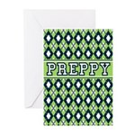 Green Argyle Preppy Greeting Cards (Pk of 10)