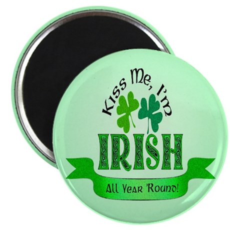 "Kiss Me I'm Irish 2.25"" Magnet (100 pack)"