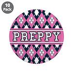 "Pink Argyle Preppy 3.5"" Button (10 Pk)"