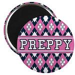 "Pink Argyle Preppy 2.25"" Magnet (10 Pk)"