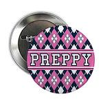 "Pink Argyle Preppy 2.25"" Button"