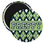 "Green Argyle Preppy 2.25"" Magnet (100 Pk)"