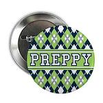 """Green Argyle Preppy 2.25"""" Button"""