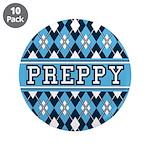 "Blue Argyle Preppy 3.5"" Button (10 Pk)"