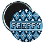 """Blue Argyle Preppy 2.25"""" Magnet (100 Pk)"""
