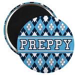 """Blue Argyle Preppy 2.25"""" Magnet (10 Pk)"""