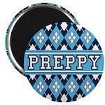 Blue Argyle Preppy Magnet