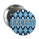 """Blue Argyle Preppy 2.25"""" Button"""