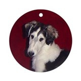 Borzoi Puppy Ornament