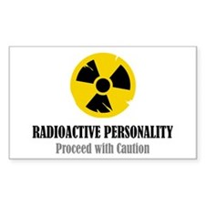 Radioactive Personality Rectangle Decal