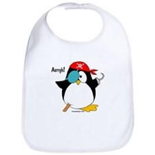 Pirate Penguin Bib