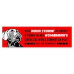 Weimaraner Honor Student Bumper Sticker