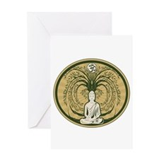 Buddha and the Bodhi Tree Greeting Card