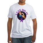 I Can Do It Pancreatic Cancer Fitted T-Shirt