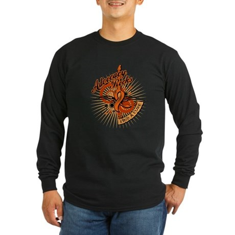 Leukemia Advocacy Rocks Long Sleeve Dark T-Shirt