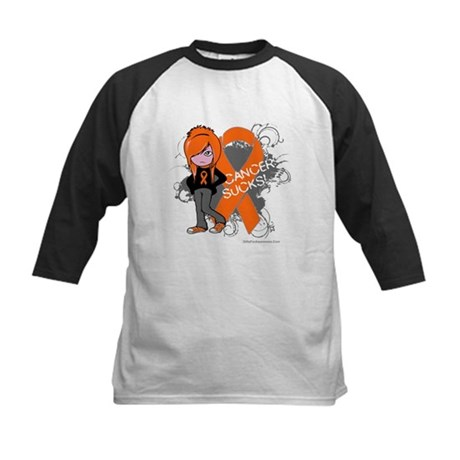CancerSucks Leukemia Kids Baseball Jersey