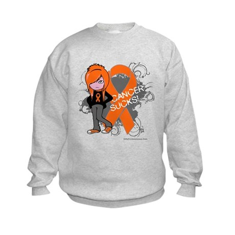 CancerSucks Leukemia Kids Sweatshirt