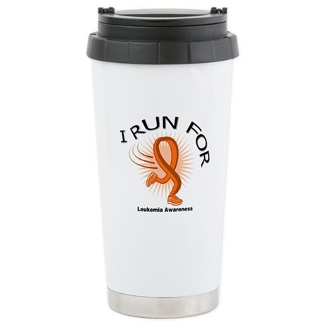 Leukemia Awareness Run Ceramic Travel Mug
