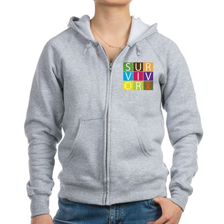 Leukemia Survivor Women's Zip Hoodie