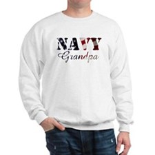 Navy Grandpa Flag Sweatshirt
